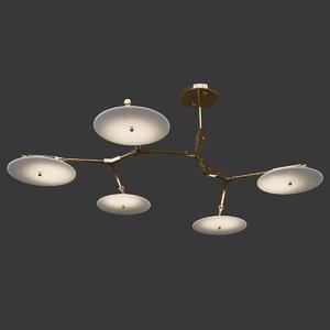 5-light branching disc 3D model