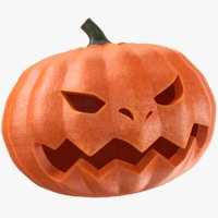real halloween pumpkin 3D model