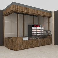 3D cafe model