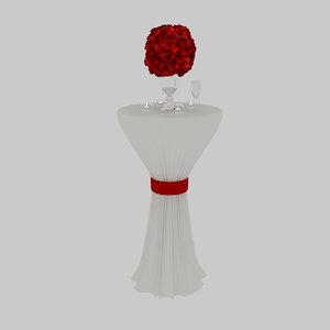 3D wedding table