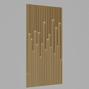 3D model lighting wall panel