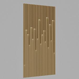 3D model lighting wall panel