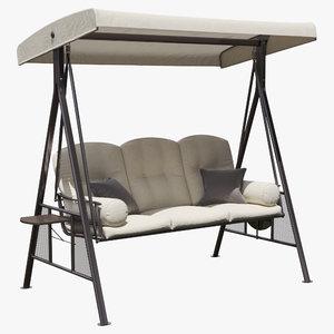 swing pillows seats 3D model