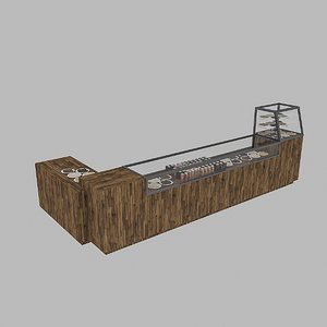 3D cafe counter model