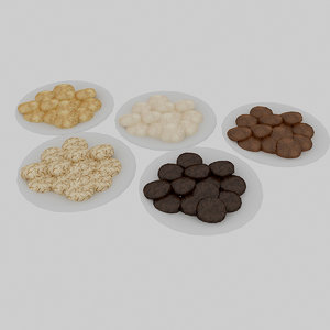 cookies set 3D model