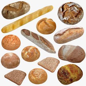 realistic bread 2 model