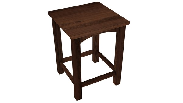 wooden wood stool model