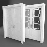 entrance wooden door 3D