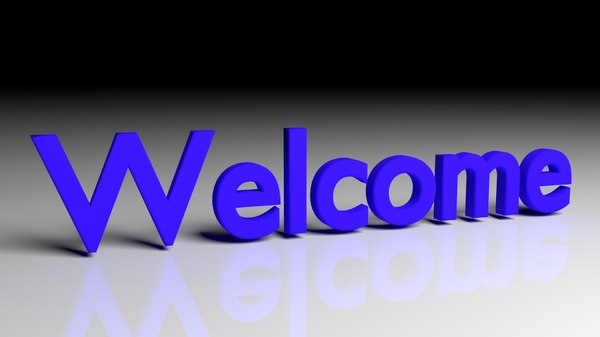 3D disappear welcome text animation