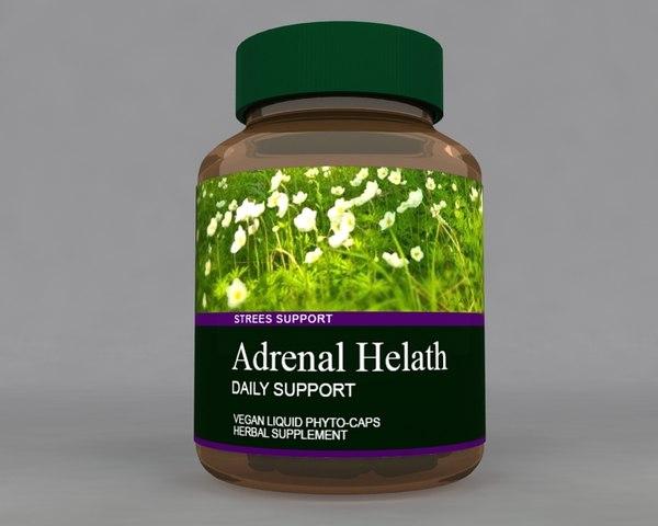 herbal bottle 3D model
