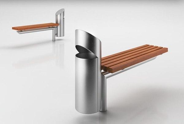 3D model chair trash