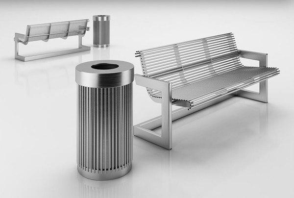 chair trash 3D model