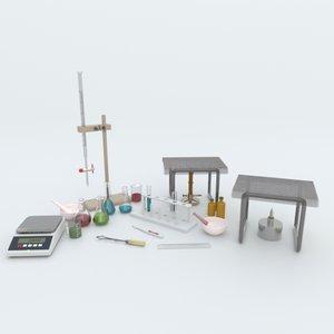 3D chemistry lab equipment