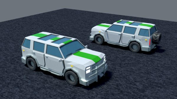 jeep low-poly 3D