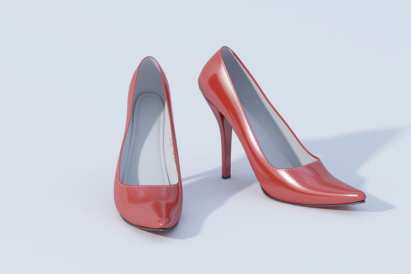 3D model female heel shoe