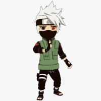 3D kakashi naruto - model