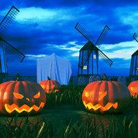 real halloween scene 3D model
