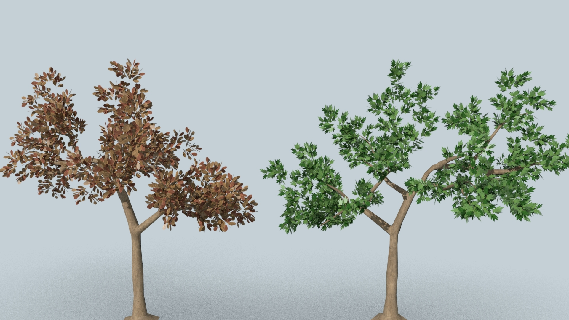 tree tow set 3D model