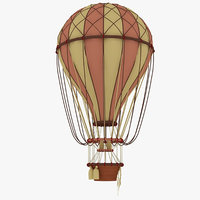 realistic hot air 3D model