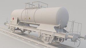 3D model train tank tanker