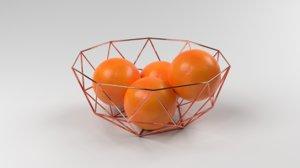 modern fruit basket model