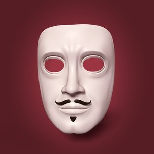 3D theater mask model