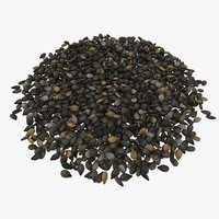 3D black sesame seeds