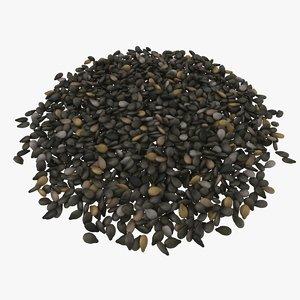3D black sesame seeds