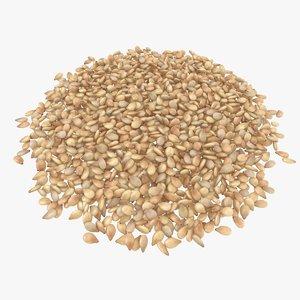 3D sesame seeds