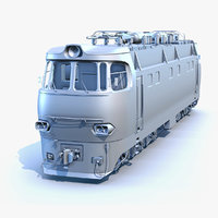3D train locomotive chs4 uvs model