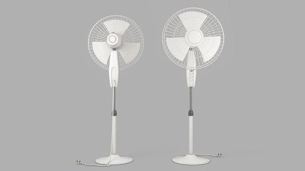 3D pedestal fan model