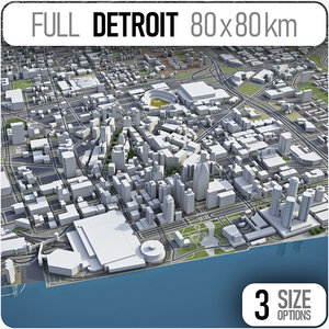 detroit city area model
