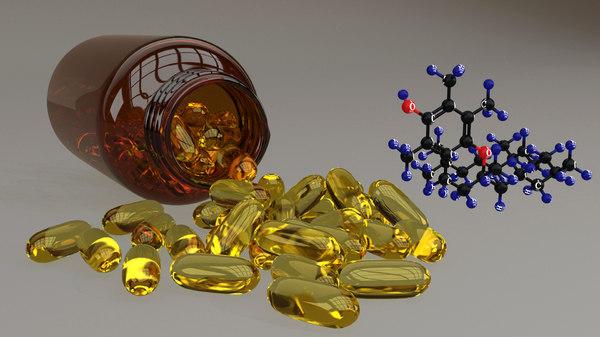 3D vitamin capsuled molecular
