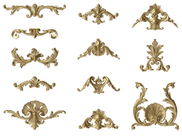3D onlays acanthus decorating