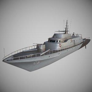 boat vessel vehicle 3D model