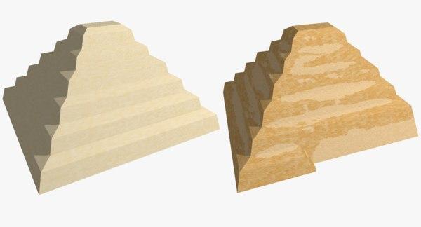 3D step pyramid model