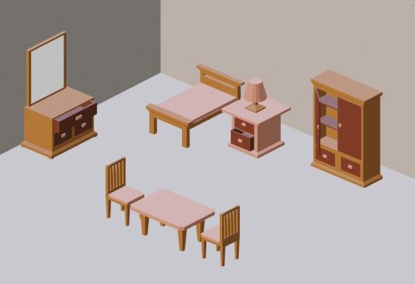 3D model asset pack furniture