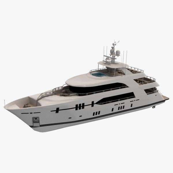ocean alexander 120 motor yacht 3D