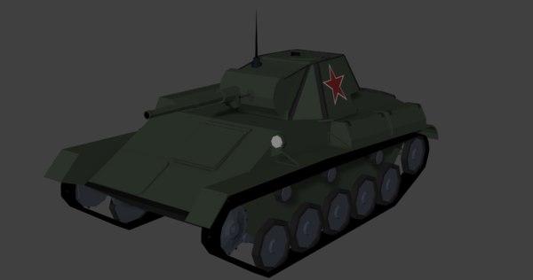 isometric tank ussr 3D