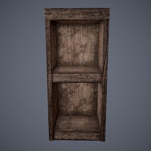 wooden tavern stand shelving model