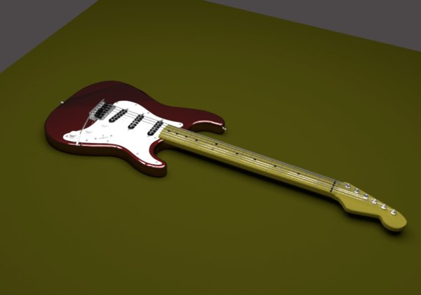 3D guitar music model