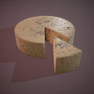 3D model cheese gorgonzola