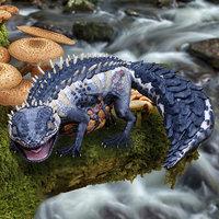 Blue Reptile Monster