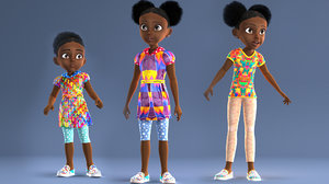 3D iphonex afro toon girl