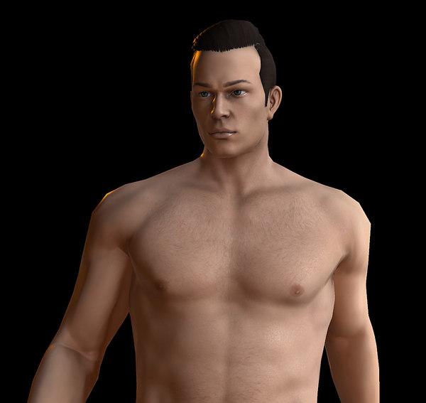 3D basic male model
