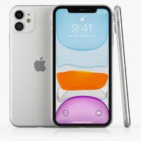 3D apple iphone 11 white