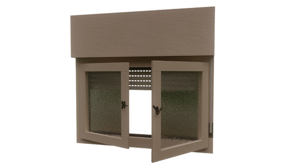 retro window 3D model