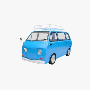 cartoon car sambar 3D model