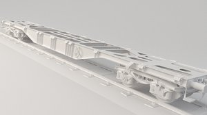 3D model train platform flat