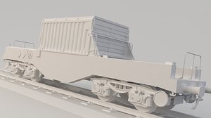 container train nuclear 3D model